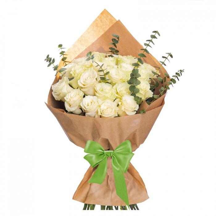 Buchet 25 trandafiri albi [0]