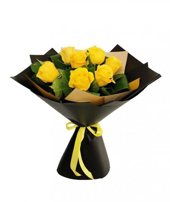 Buchet 7 trandafiri galbeni [0]