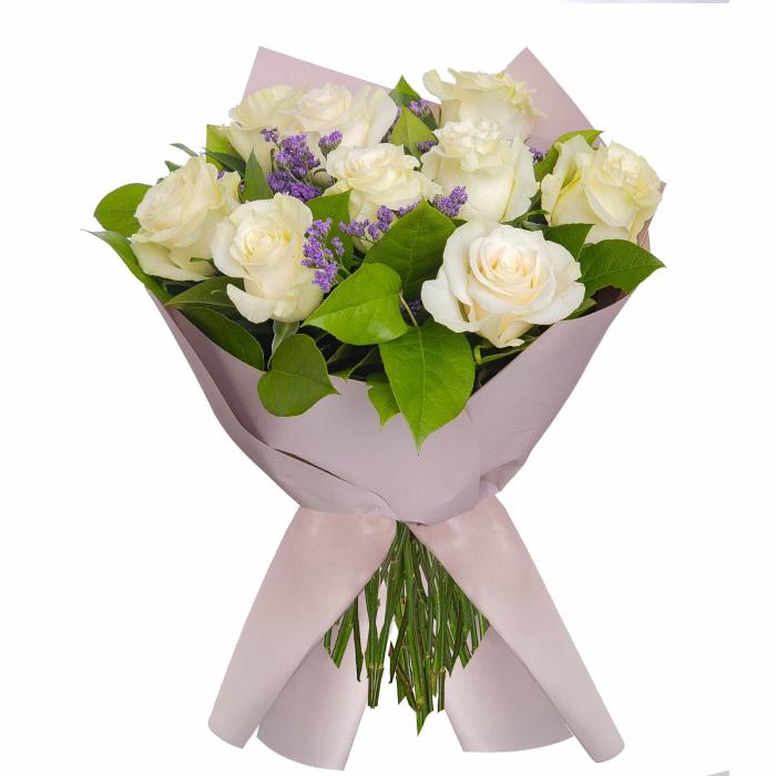 Buchet 9 trandafiri albi [0]