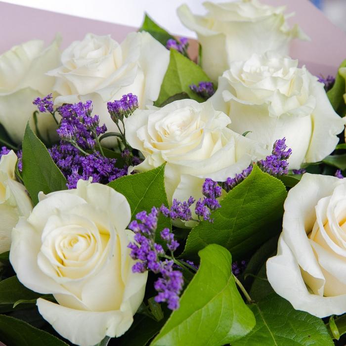 Buchet 9 trandafiri albi [1]