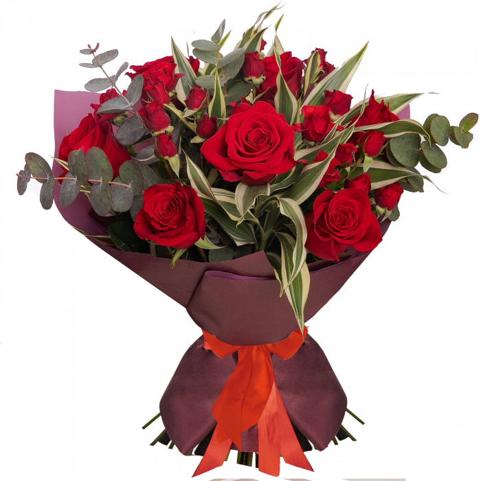 Buchet de flori cu trandafiri rosii [0]