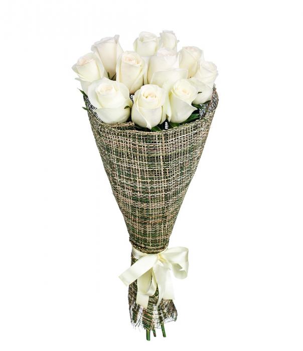 Buchet 11 trandafiri albi [0]