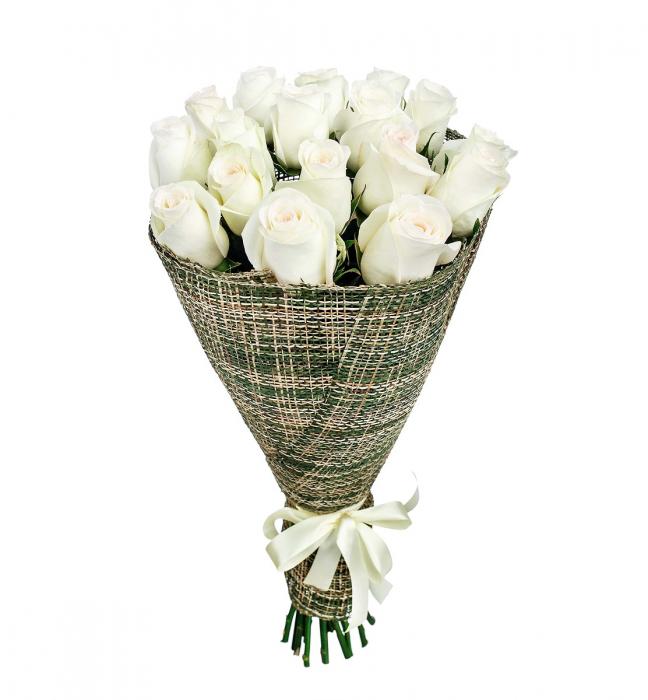 Buchet 17 trandafiri albi [0]