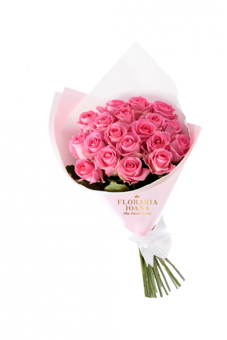 Buchet flori 19 Trandafiri Roz [0]