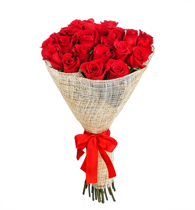 Buchet 25 trandafiri rosi [0]