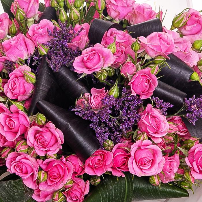 Buchet minirosa roz [1]