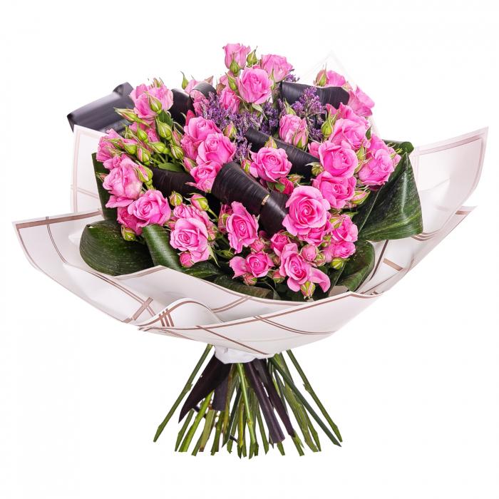Buchet minirosa roz [0]