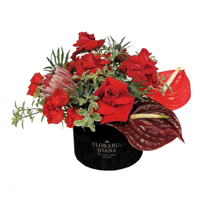 Cutie cu trandafiri si anthurium [0]