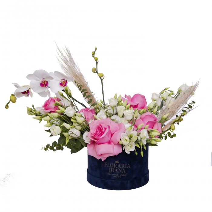 Cutie cu trandafiri si orhidee [0]