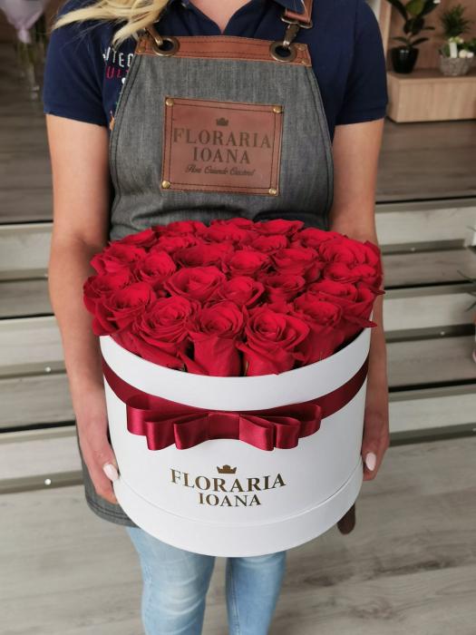 Cutie 25 trandafiri rosii [0]