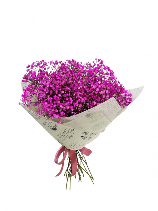 Buchet gypsophila roz [0]