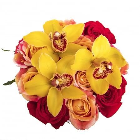 Aranjament floral cu trandafiri [1]