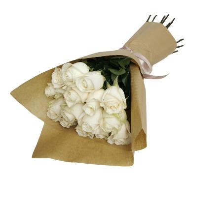 Buchet 15 trandafiri albi [1]