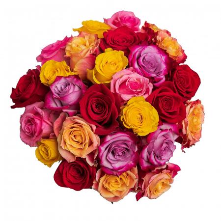 Buchet colorat cu mix de trandafiri [1]