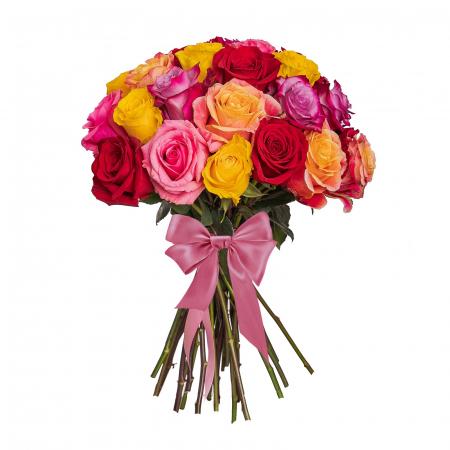 Buchet colorat cu mix de trandafiri [0]