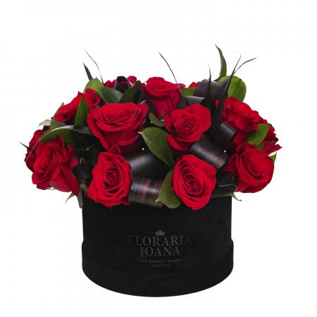Cutie cu 17 trandafiri rosii [0]