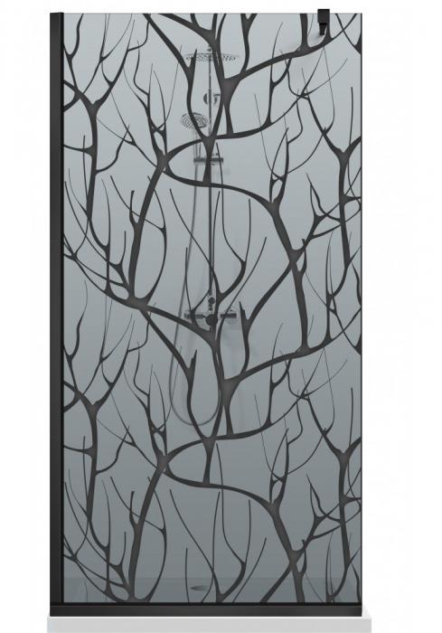 Paravan Dus Walk-In AQUA ROY BLACK TREE [6]