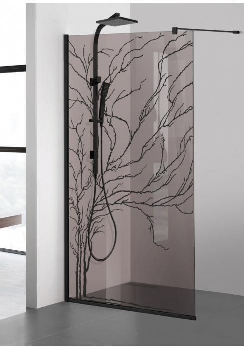 Paravan Dus Walk-In AQUA ROY BLACK TREE [1]