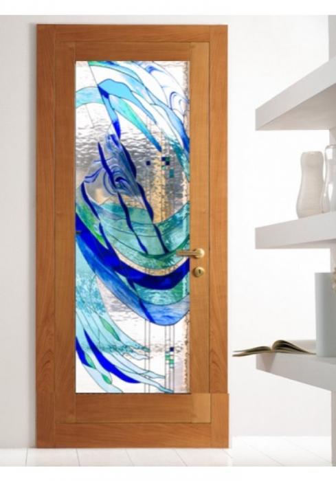 Geam Decorativ Usa Interioara Model PURPLE ART [0]