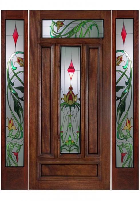 Geam Decorativ Usa Interioara Model Clasic Crin Galben [1]