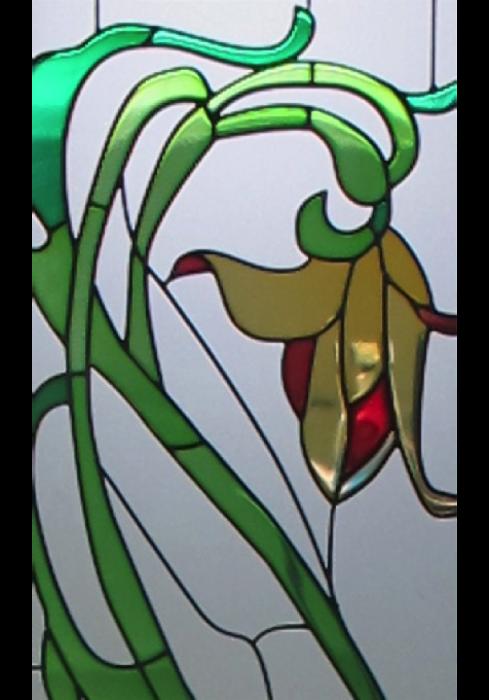Geam Decorativ Usa Interioara Model Clasic Crin Galben [2]