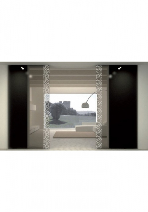 Geam Decorativ Usa Interioara Model LUGANO VERTICAL 0