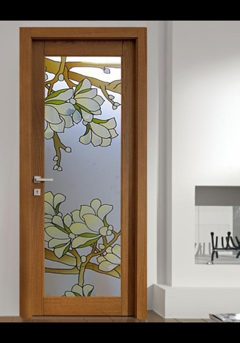 Geam Decorativ Usa Interioara Model MAGNOLIA OLIV 0