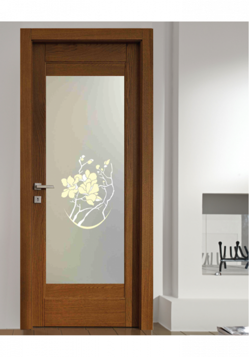 Geam Decorativ Usa Interioara Model MAGNOLIA OVAL [0]