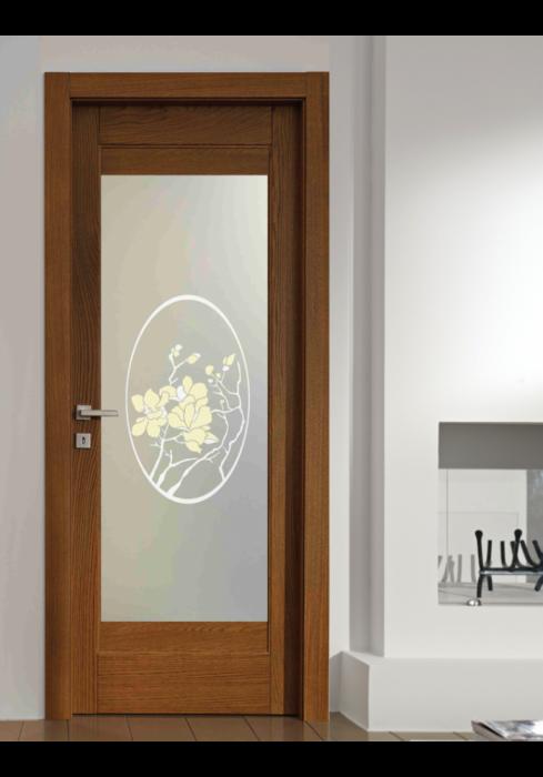 Geam Decorativ Usa Interioara Model MAGNOLIA OVAL [1]