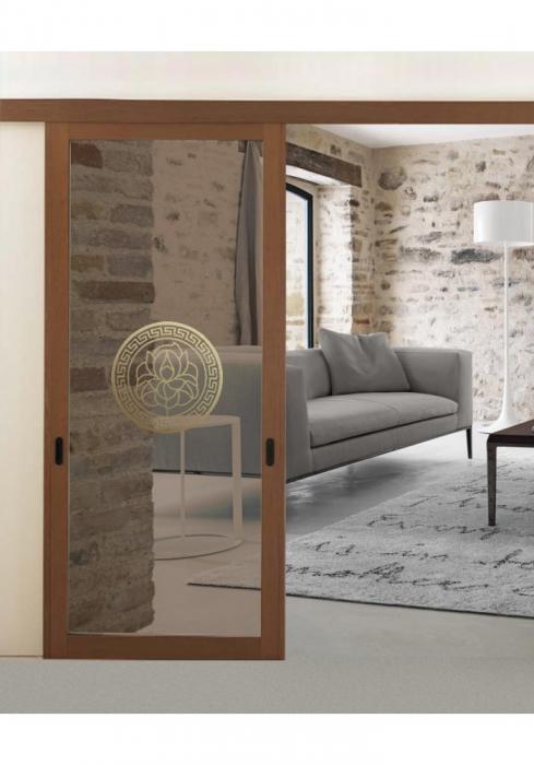 Geam Decorativ Usa Interioara Model MEDALION LILY 0