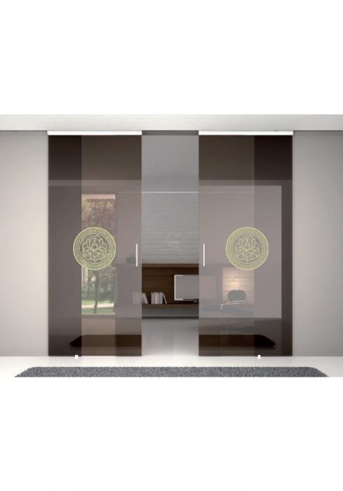 Geam Decorativ Usa Interioara Model MEDALION LILY 1