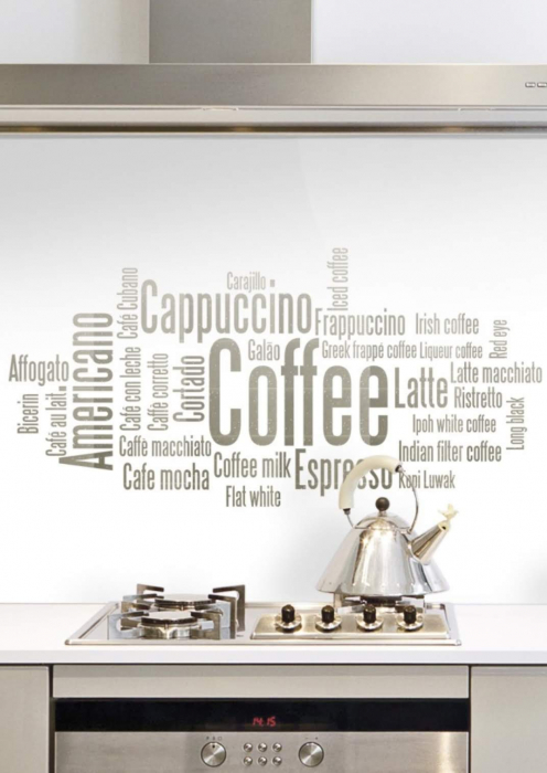 Sticla Colorata Vopsita Model COFFEE 0