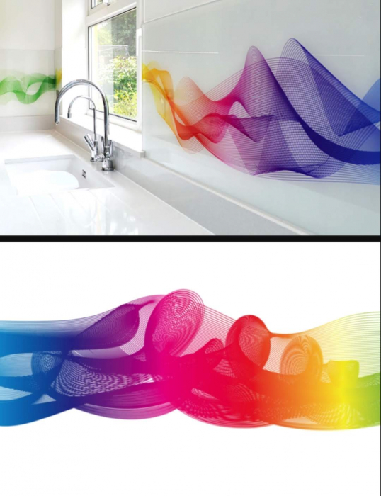 Sticla Securizata Imprimata Bucatarie Model Rainbow [0]