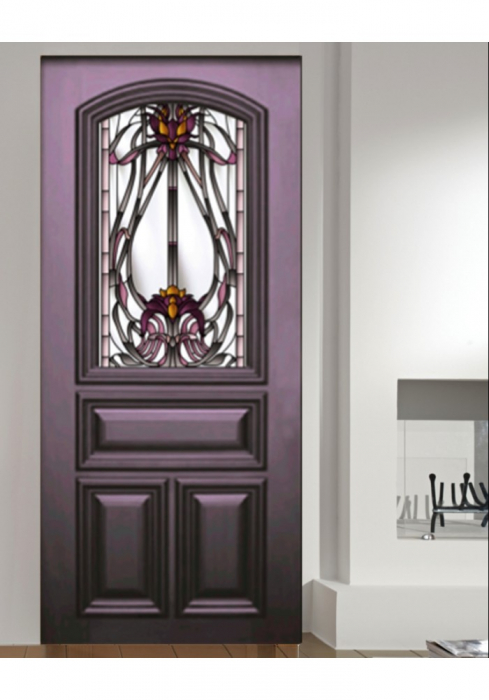 Geam Decorativ Usa Interioara Model VIOLIN VIOLET [0]