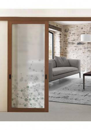 Geam Decorativ Usa Interioara Model ATOMIC0