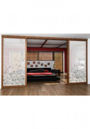 Geam Decorativ Usa Interioara Model ATOMIC1