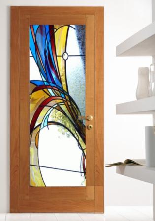 Geam Decorativ Usa Interioara Model BLUE WAY0