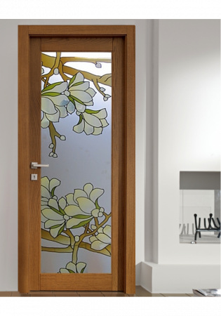 Geam Decorativ Usa Interioara Model MAGNOLIA OLIV0