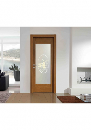 Geam Decorativ Usa Interioara Model MAGNOLIA OVAL [2]