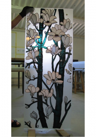 Geam Decorativ Usa Interioara Model MAGNOLII [3]