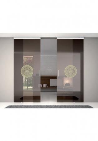 Geam Decorativ Usa Interioara Model MEDALION LILY1