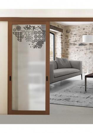 Geam Decorativ Usa Interioara Model MINIMAL XL0