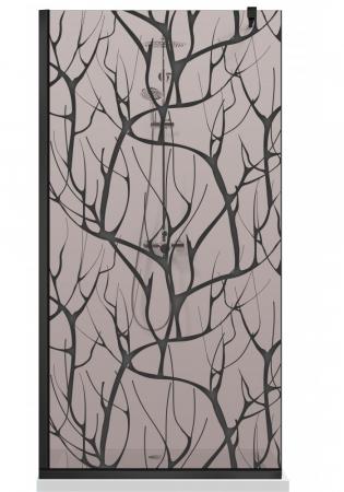 Paravan Dus Walk-In AQUA ROY BLACK TREE [7]