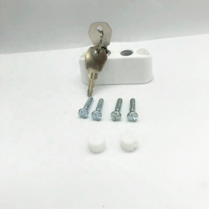 Sistem restrictionare geamuri culoare alba cu cablu si cu cheie1
