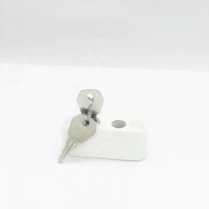 Sistem restrictionare geamuri culoare alba cu cablu si cu cheie4