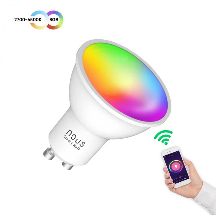 Bec LED RGB Smart NOUS P8, GU10, Control din aplicatie [2]