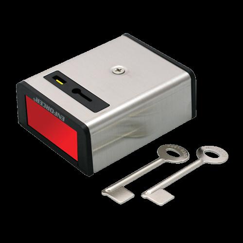 Buton de panica metalic cu retinere SS-077Q [0]