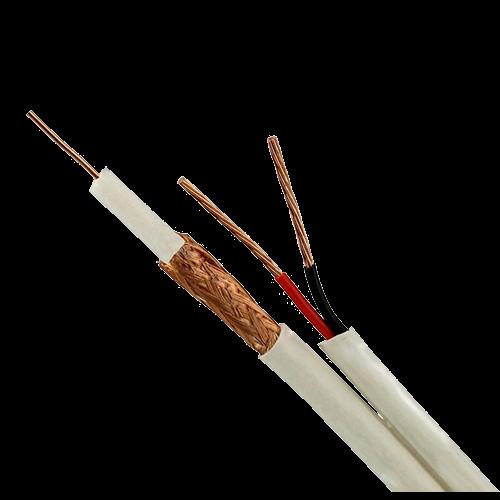Cablu coaxial RG59 + alimentare 2x0.75, 305m, alb TSY-RG59+2X0.75-W [1]