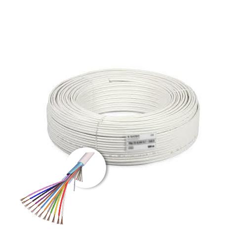 Cablu de alarma 12 fire ecranate, cupru integral, 100m 12CUEF [0]