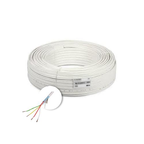 Cablu de alarma 4 fire ecranate, cupru integral, 100m 4CUEF [0]
